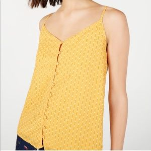 Maison Jules Embellished Button-Up Camisole Top